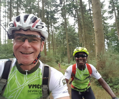 Cycling raising funds for YMCA East Surrey