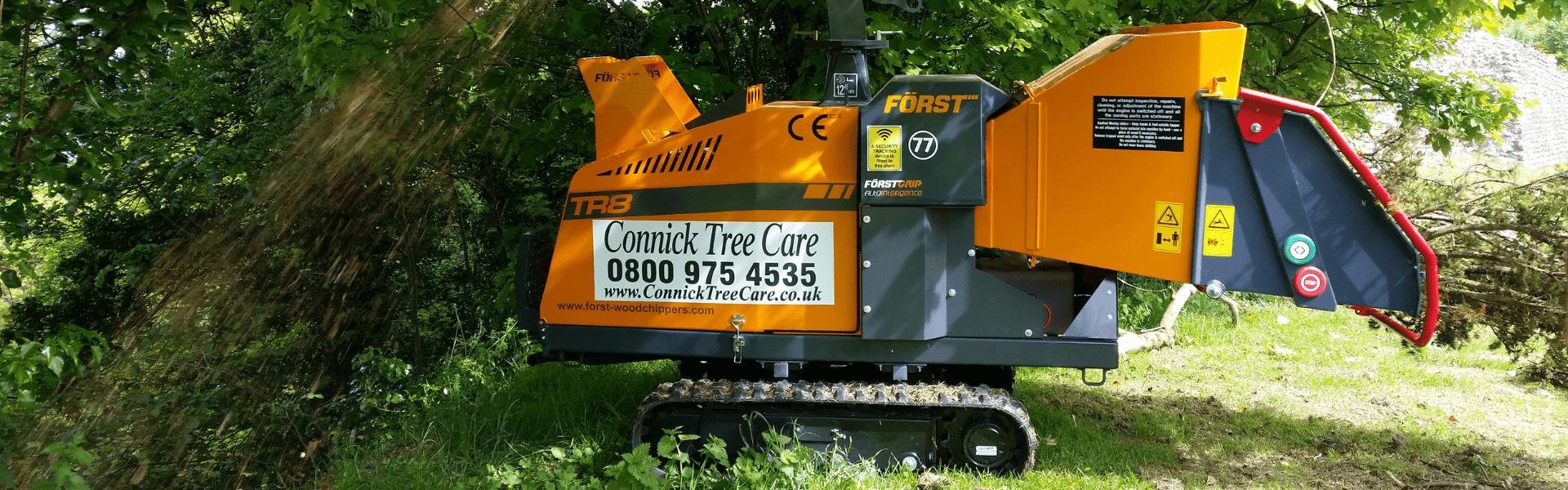 TR8 Forst chipper at Bramber Castle