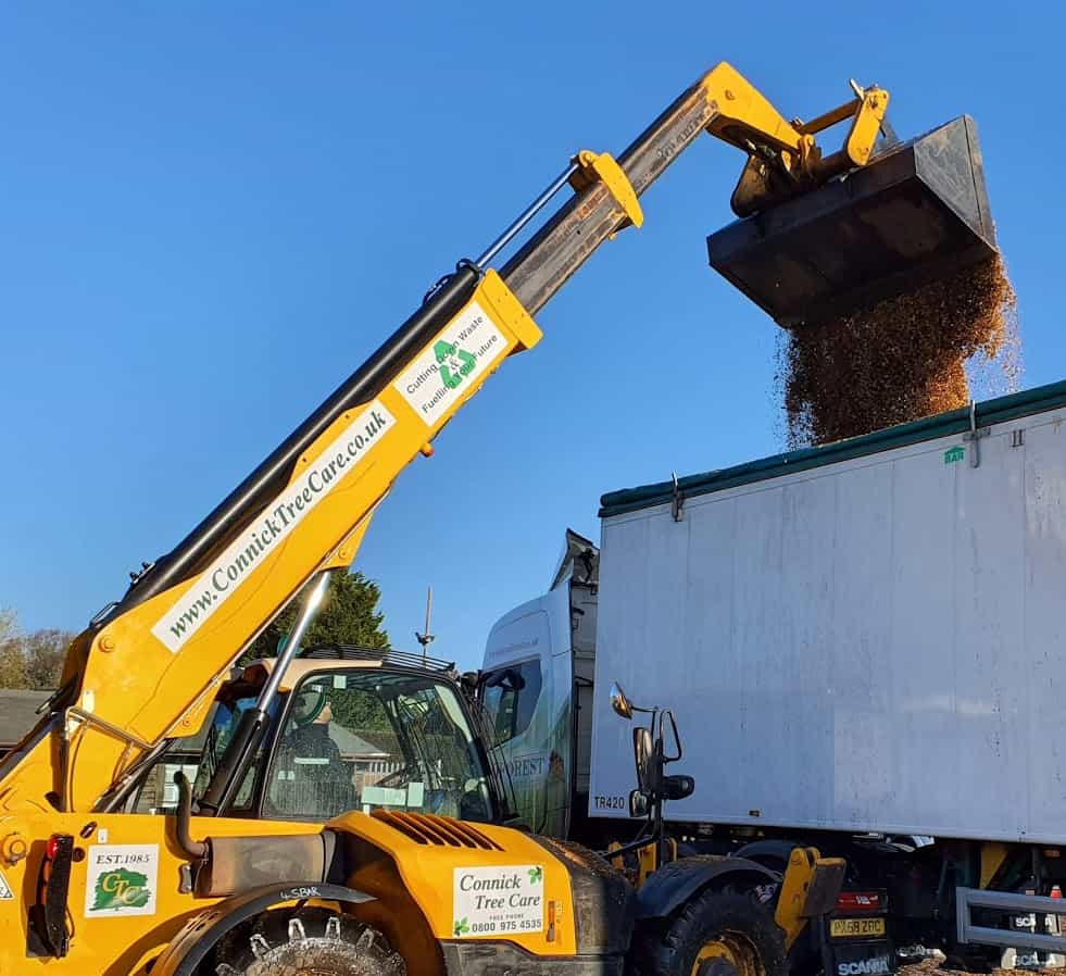 Wood chip goes to biomass fuel stations
